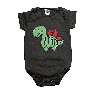 Body Bebê Dino Dlook Chumbo