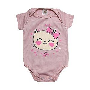 Body Bebê Gatinha Dlook Rose