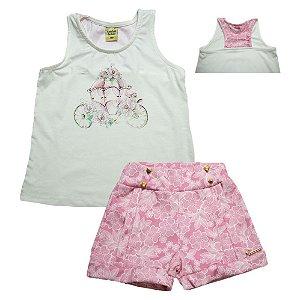Conjunto Infantil Flores Sonho Do Bebê Pérola