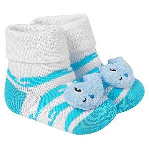 Meia Divertida Bebê Baleia Winston Azul
