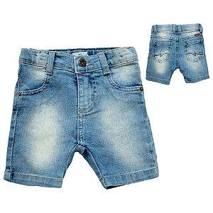 Bermuda Bebê Jeans Jeito Infantil Azul