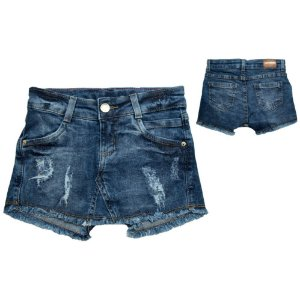 Shorts Saia Jeans Infantil/Juvenil Jeito Infantil Azul