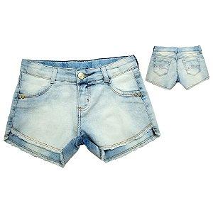 Shorts Infantil Jeans Com Desfiado Jeito Infantil