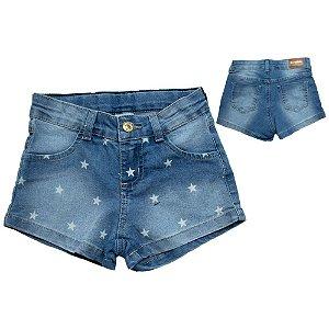 Shorts Infantil Jeans Estrela Jeito Infantil Azul