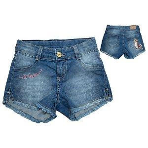 Shorts Jeans Infantil Lhama Jeito Infantil Azul