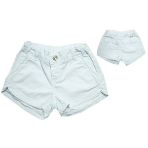 Shorts Jeans Pom Pom Jeito Infantil Branco