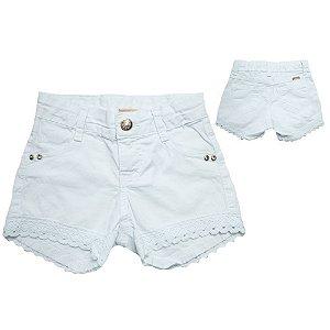 Shorts Infantil Com Renda Jeito Infantil Branco