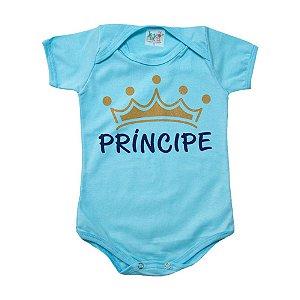 Body Bebê Príncipe Jeito Infantil Azul Claro