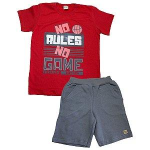 Conjunto Infantil No Rules Kibs Kids Vermelho