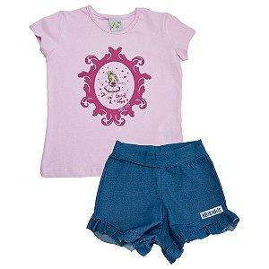 Conjunto Infantil Bailarina Kibs Kids Rosa