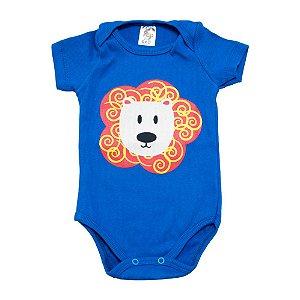 Body Bebê Leão Dlook Azul Royal
