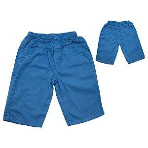 Bermuda Infantil Sarja Jeito Infantil Azul