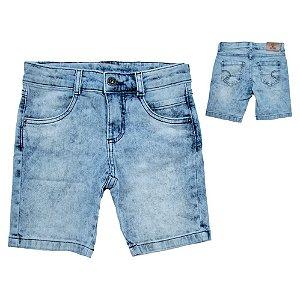 Bermuda Infantil Manchada Jeans Jeito Infantil Claro