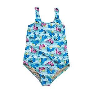 Maiô Infantil Plus Size Baby Shark Sofhy Azul
