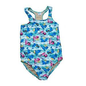 Maiô Nadador Infantil Plus Size Baby Shark Sofhy Azul