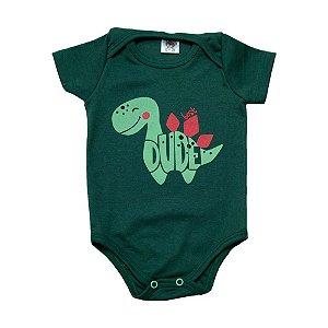 Body Bebê Dino Dlook Verde