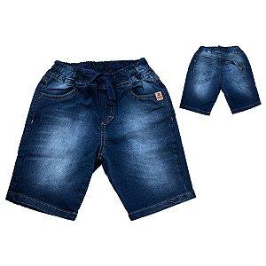 Bermuda Jogger Infantil Jeans Jeito Infantil Marinho