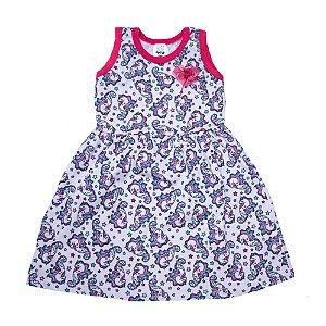 Vestido Bebê/Infantil Unicórnio Veste Kids Rosa