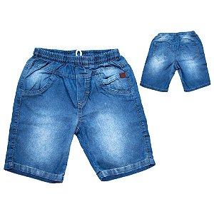 Bermuda Jeans Infantil Recorte Jeito Infantil Azul