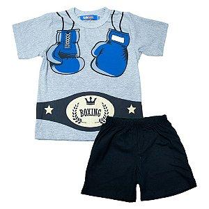 Pijama Infantil/Juvenil Boxing Jeito Infantil Mescla