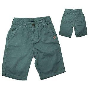 Bermuda Sarja Infantil Jeito Infantil Verde Militar