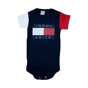 Body Bebê Tommy Leite Meu Bebê Marinho