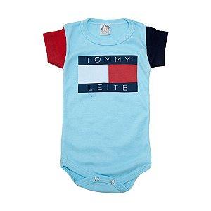 Body Bebê Tommy Leite Meu Bebê Azul