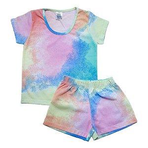 Conjunto Infantil Tie Dye Veste Kids