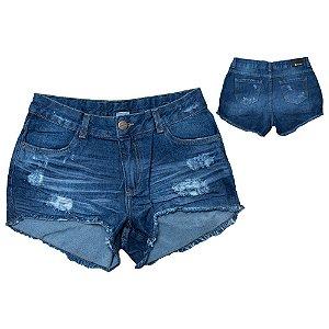 Shorts Jeans Boyfriend Juvenil Jeito infantil Azul