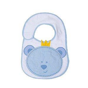 Babador Bebê Felpudo Ursinho Papi Azul