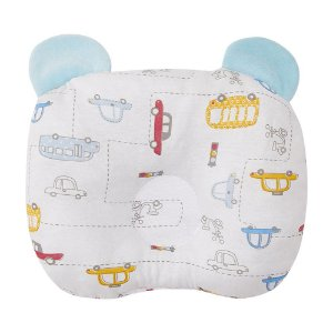 Travesseiro Bebê Anatômico Com Orelhinhas Papi Azul