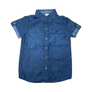 Camisete Jeans Infantil  Jeito Infantil Azul