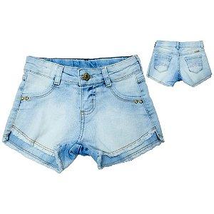 Shorts Jeans Infantil  Jeito Infantil Claro