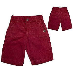 Bermuda Sarja Infantil  Jeito Infantil Vermelho