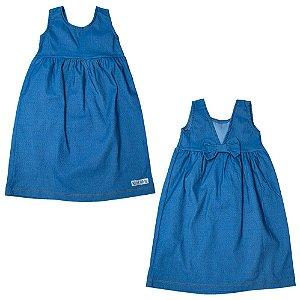 Vestido Infantil Laço Costa Kibs Kids Azul