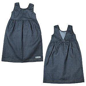 Vestido Infantil Laço Costa Kibs Kids Preto