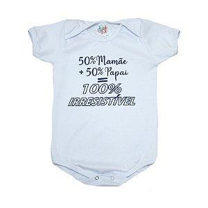 Body Bebê 100% Irresistível  Jeito Infantil Branco