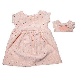 Vestido Bebê Lazzie Molekada Salmão