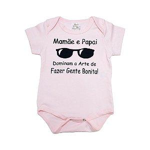 Body Bebê Arte De Fazer Gente Bonita Nanny Baby Rosa