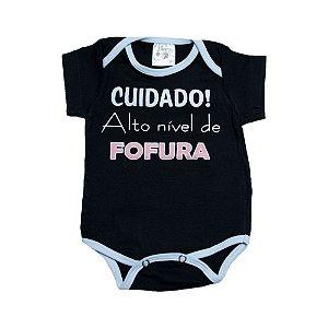 Body Bebê Alto Nível De Fofura Nanny Baby Preto