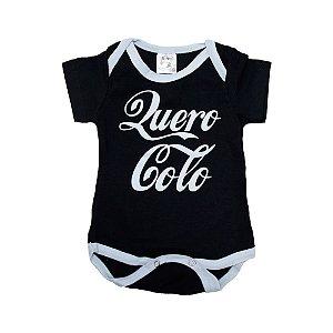 Body Bebê Quero Colo Nanny Baby Preto