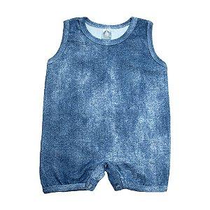 Macaquinho Bebê Molecotton Meu Bebê Azul