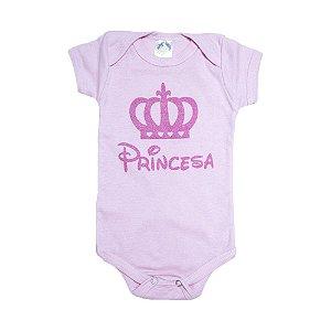 Body Bebê Princesa Meu Bebê Rosa