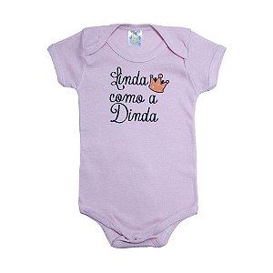 Body Bebê Linda Como A Dinda Meu Bebê Rosa