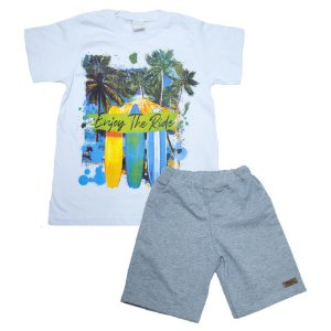 Conjunto Infantil Enjoy The Ride Molekada Branco