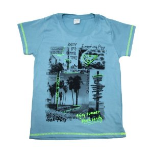 Camiseta Juvenil Summer Molekada Azul