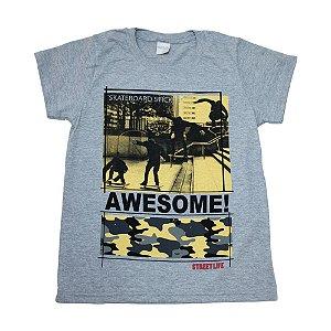 Camiseta Juvenil Skateboards Molekada Mescla