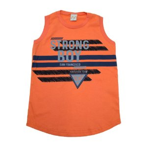 Regata Infantil Strong Boy Kibs Kids Laranja