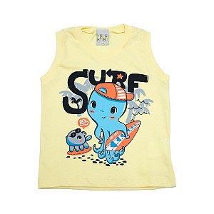 Regata Infantil Surf Kibs Kids Amarelo