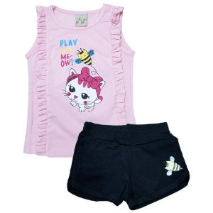 Conjunto Infantil Abelhinha Kibs Kids Rosa